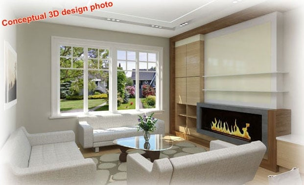 photo of 3D conceptual design for home